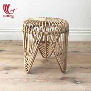 Natural Leaf Rattan Stool Chair