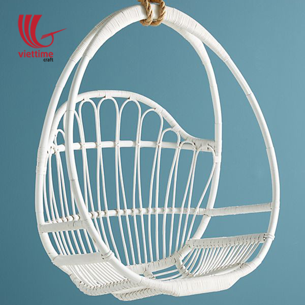 Outstanding White Round Hanging Rattan Chair Machost Co Dining Chair Design Ideas Machostcouk