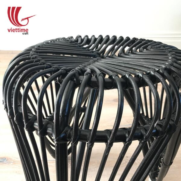 Natural Leaf Rattan Stool Chair