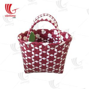 Woven Plastic Basket Bag