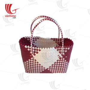 Shopping Bags Basket Braided Plastic
