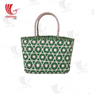 Hive Woven Plastic Basket Bag