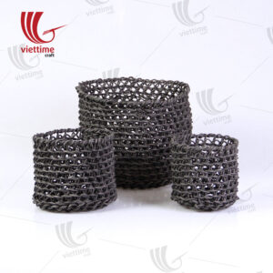 Seo Of 2 Black Paper Storage Basket