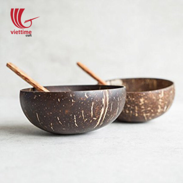 Coconut Bowl And Spoon Set Of 2