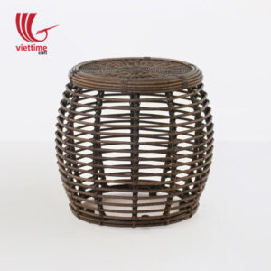 Versatile Drum Rattan Side Table