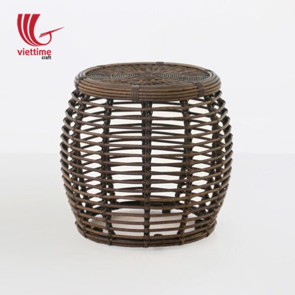 Versatile Drum Rattan Side Table