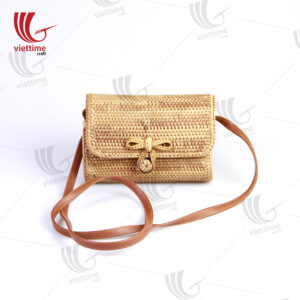 Nice Box Shape Rattan Handbag
