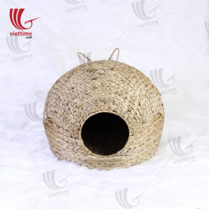 Wicker Cat Kitten Bed Basket Sleeping House