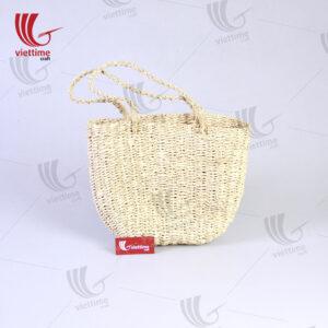Model Handmade Palm Leaf Handbag