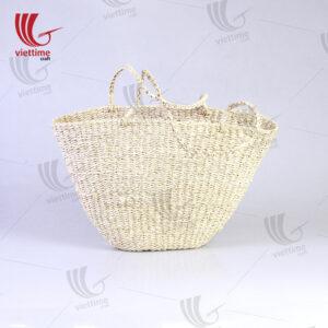 Vintage Large HandWoven Palm Leaf Bag