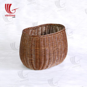 Brown Rattan Laundry Storage Basket