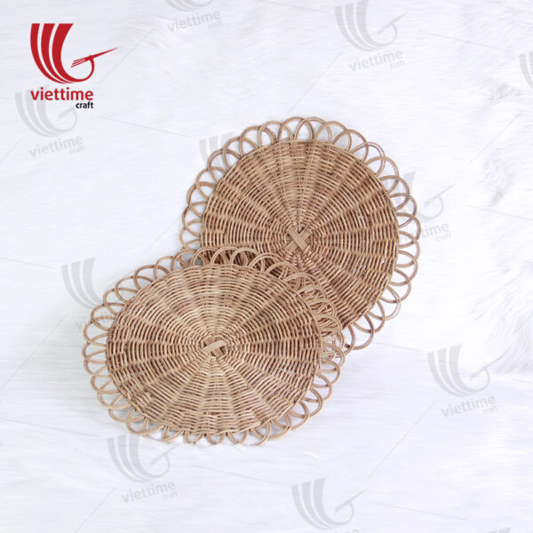 Newest Round Natural Rattan Placemat