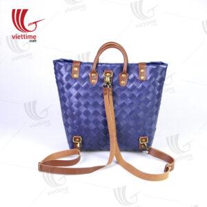 New Design Violet Plastic Backpack Bag
