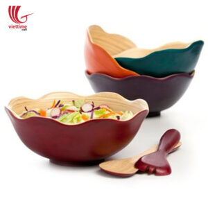 Flower Bamboo Salad Bowl Wholesale