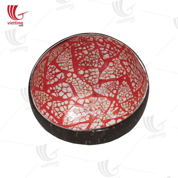 Collection Of Eggshell Lacquer Coconut Bowl