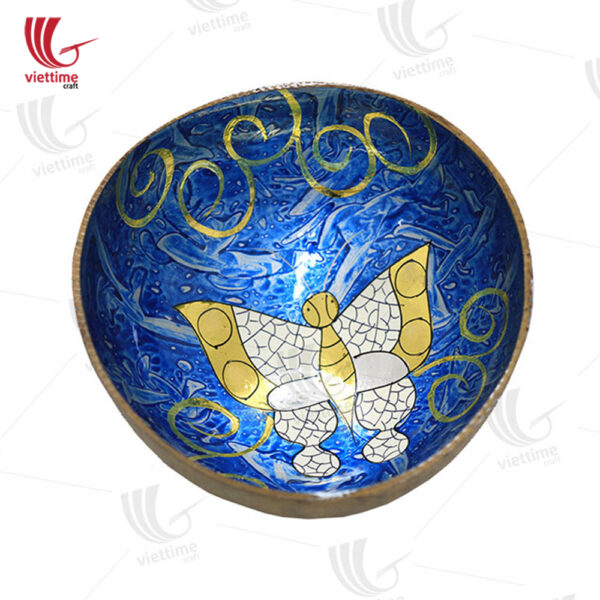 Lacquered Draw Inside Coconut Bowls