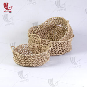 Paper Basket With Handle Set Of 3