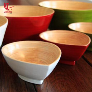 Tear Shaped Bamboo Salad Bowl