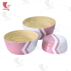 Nice Bamboo Salad Bowl Set Of 3