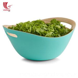 Bamboo Salad Bowl With Handle