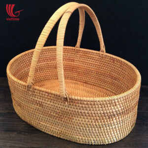Rattan Shopping Basket With Handle