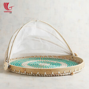 Seagrass Plastic String Basket With Net Cover