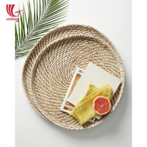 Seagrass Plastic String Tray Set Of 2