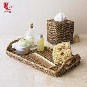 Brown Rattan Trays With Handle Wholesale