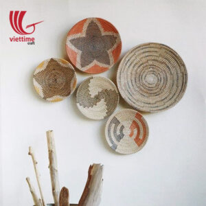 Round Woven Seagrass Disc Wall Art