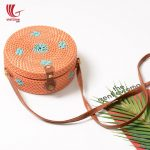 Collection Of Rattan Bag With Plastics String