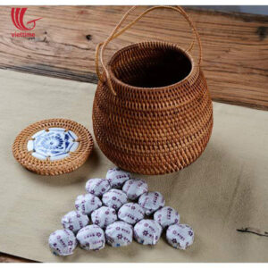 Unique Rattan Candy Box With Handle
