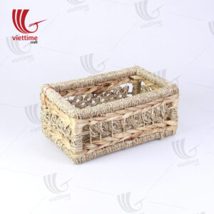 Water Hyacinth Basket With Seagrass