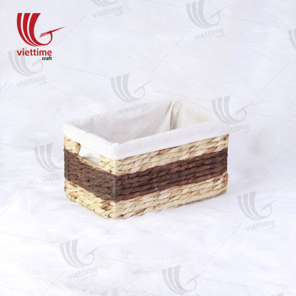 Water Hyacinth Basket With Cloth