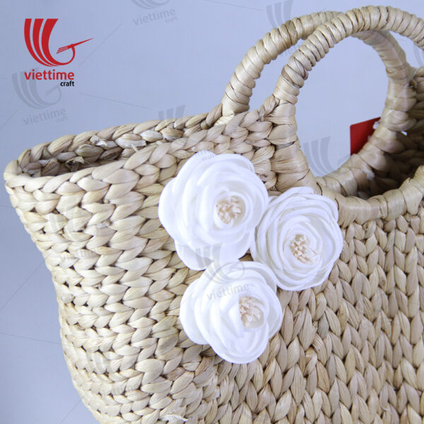 Beautiful White Flower Water Hyacinth Bag