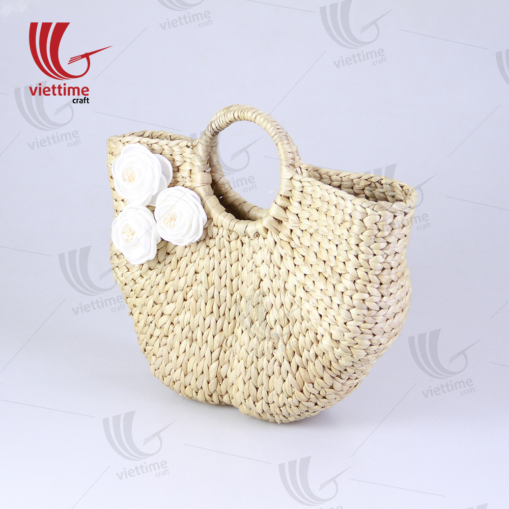 Beautiful white flower water hyacinth bag wholesale viettime craft beautiful white flower water hyacinth bag izmirmasajfo