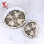 Seagrass Basket With Net Cover Set Of 2