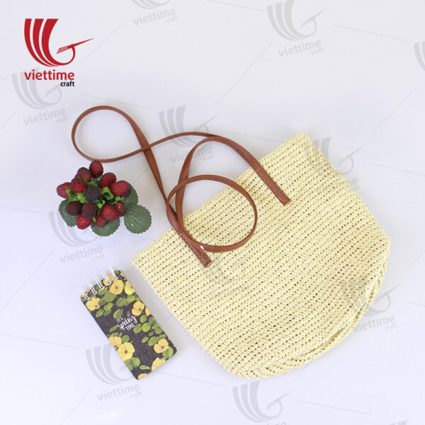 White Tote Bag Made From Recycled Paper