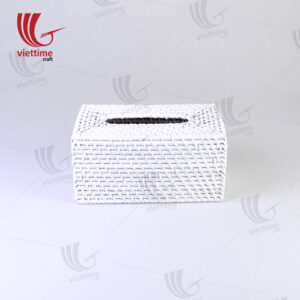Rectangle White Rattan Tissue Napkin Box
