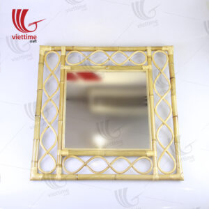 Antique Brown Rattan Wall Mirror Decorate