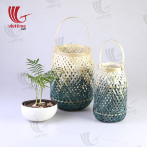 Dipped Green Weaving Bamboo Lantern