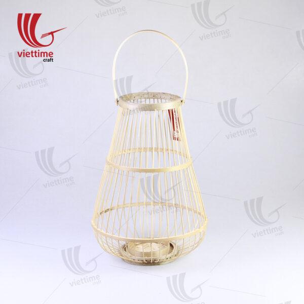 Natural Weaving Bamboo Lantern Set Of 2