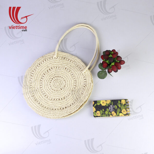 White Paper Round Bag For Women Wholesale