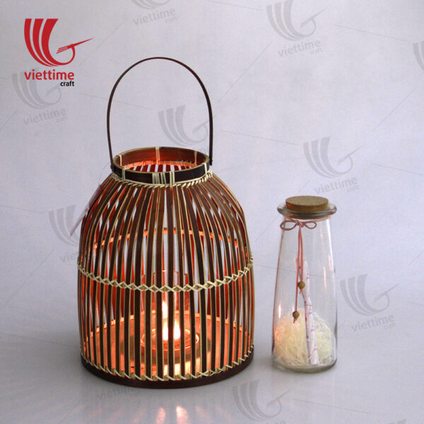 Vintage Brown Weaving Bamboo Lantern