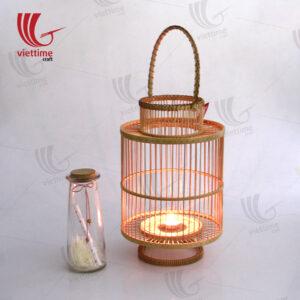 Woven Bamboo Lantern In Garden Wholesale