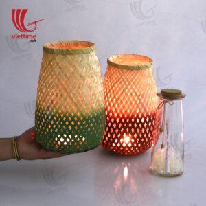Dipped Weaving Bamboo Lantern Set Of 2