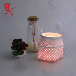 White Bamboo Lantern In Garden Wholesale
