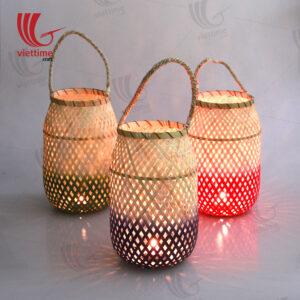 Medium Weaving Bamboo Lantern Set Of 3