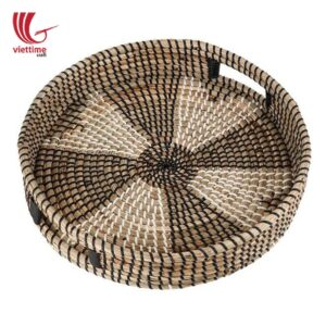 Nice Seagrass Serving Tray With Handle