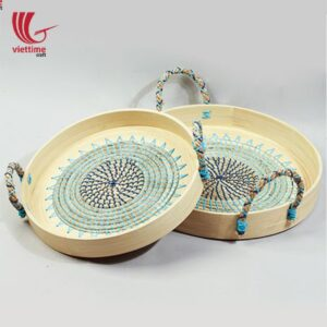 Seagrass Plastic String Tray With Spun Bamboo