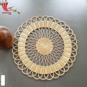 Beautiful Flower Rattan Placemat For Decoration